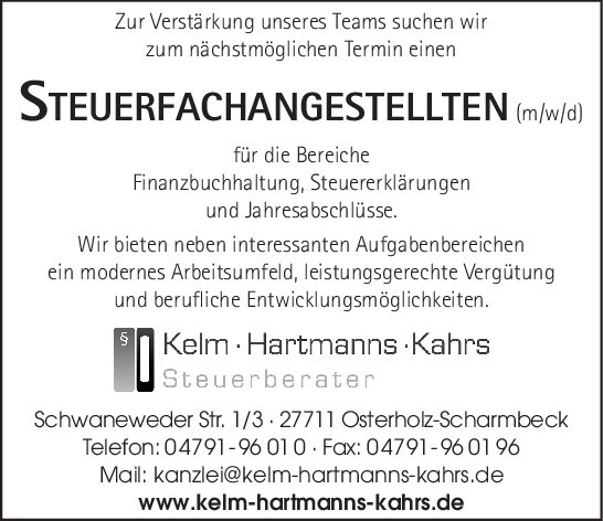 Steuerfachassistent (m/w/d)
