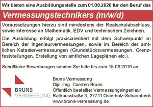 Azubi / Vermessungstechnikers